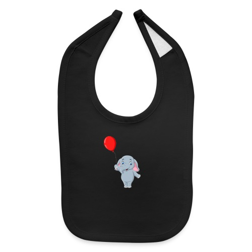 Baby Elephant Holding A Balloon - Baby Bib