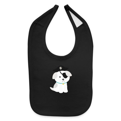 Dog with a pirate eye patch doing Vision Therapy! - Baby Bib