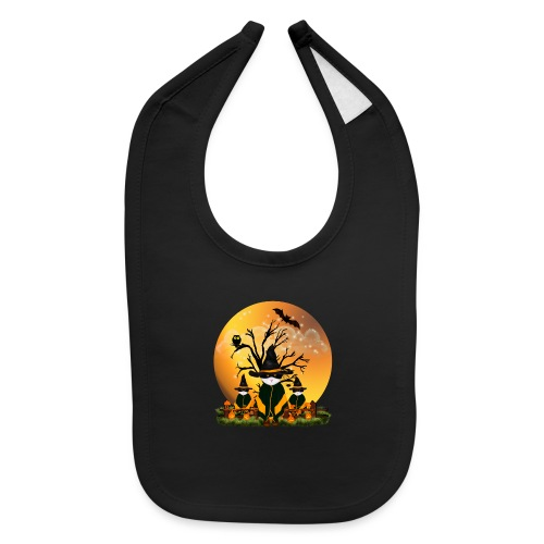 Happy Halloween with 3 masked cats - Baby Bib