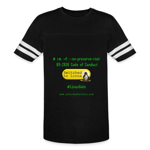 rm Linux Code of Conduct - Vintage Sport T-Shirt
