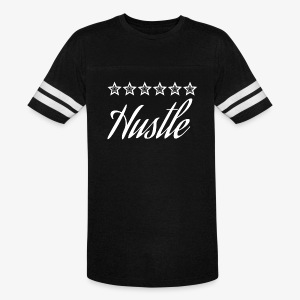 hustle with white stars - Vintage Sport T-Shirt