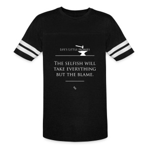 Life's Little Ironies - Taking The Blame - Vintage Sport T-Shirt