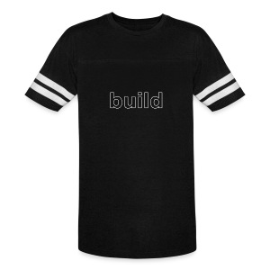 build logo (white for use on Dark Shirts) - Vintage Sport T-Shirt