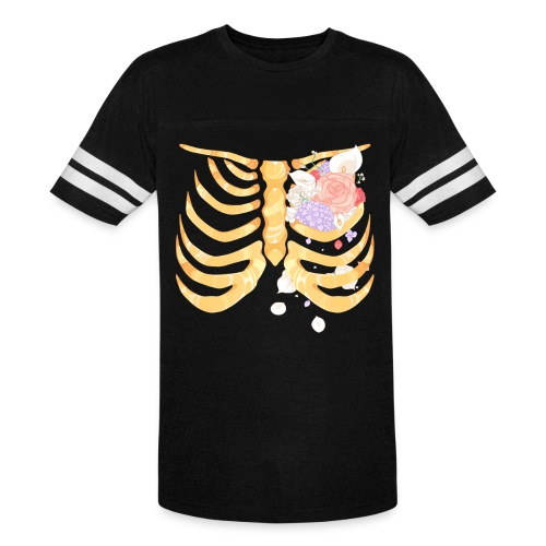 Pastel Goth Gold Rib Cage Shirt - Vintage Sport T-Shirt