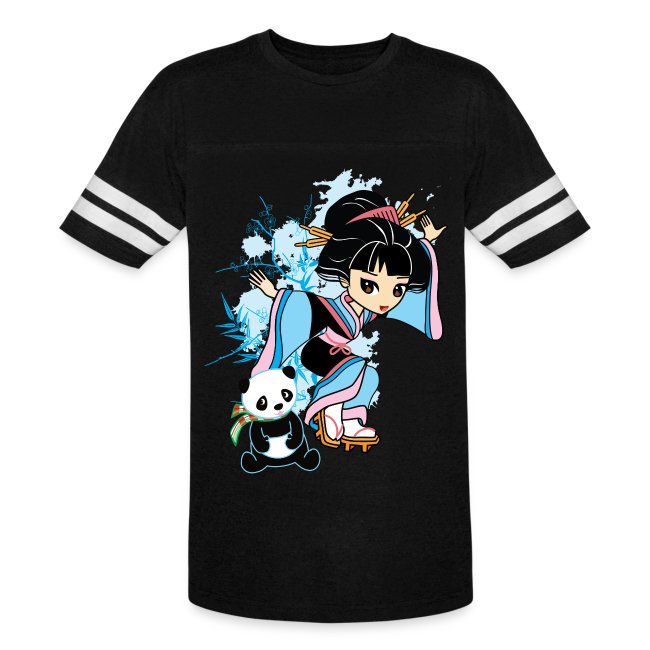 Cartoon Kawaii Geisha Panda Ladies T-shirt by