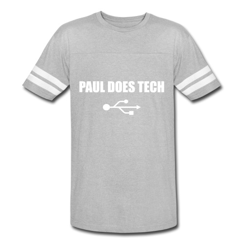 Paul Does Tech White Logo With USB - Vintage Sport T-Shirt