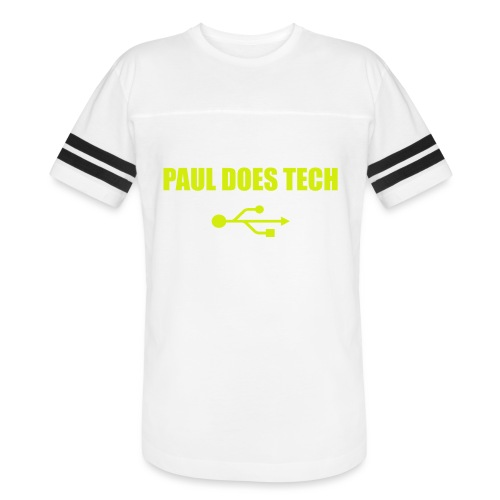 Paul Does Tech Yellow Logo With USB (MERCH) - Vintage Sport T-Shirt