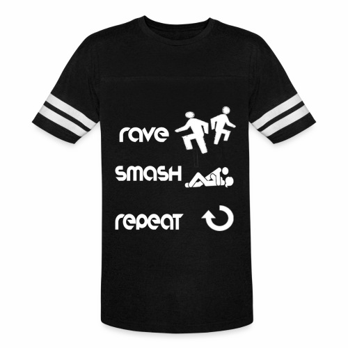 rave smash repeat - Vintage Sport T-Shirt