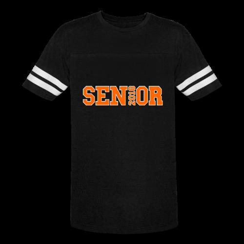 Orange Senior White Outline - Vintage Sport T-Shirt