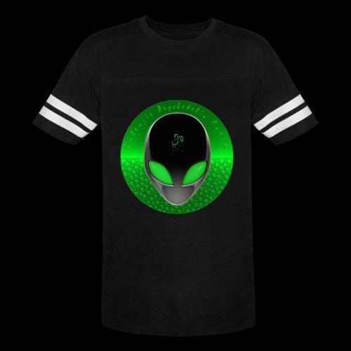 Psychedelic Alien Dolphin Green Cetacean Inspired - Vintage Sport T-Shirt