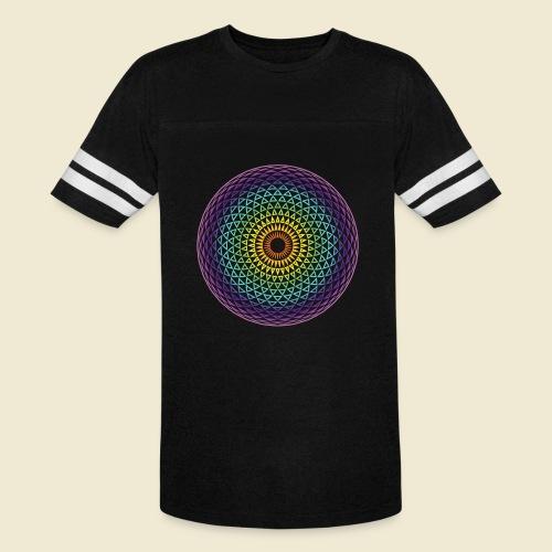Torus Yantra Hypnotic Eye rainbow - Vintage Sport T-Shirt