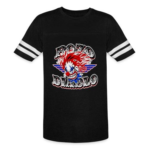 Bozo Diablo Crazy Clown Illustration - Vintage Sport T-Shirt