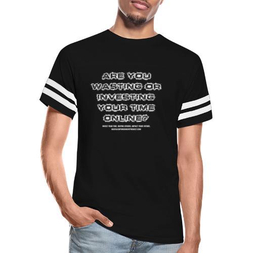 Time Online White - Vintage Sports T-Shirt
