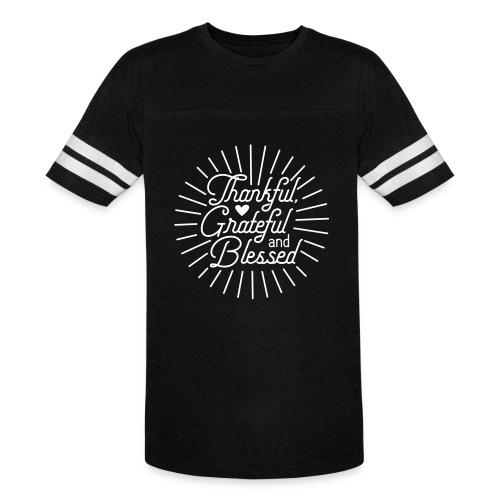Thankful, Grateful and Blessed Design - Vintage Sport T-Shirt