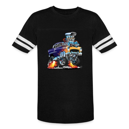 Classic Fifties Hot Rod Muscle Car Cartoon - Vintage Sport T-Shirt
