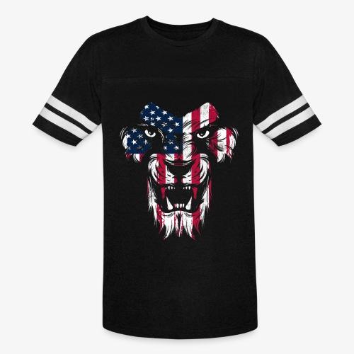 American Flag Lion - Vintage Sport T-Shirt