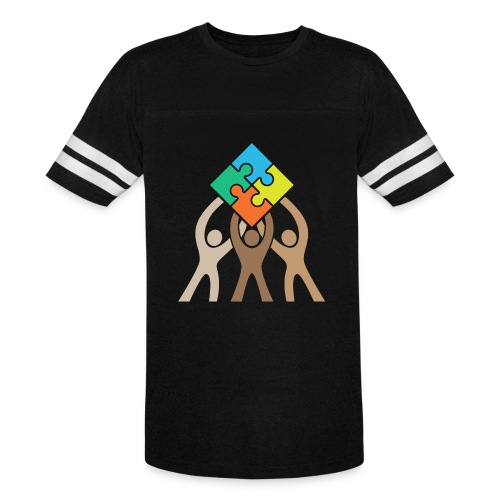 Teamwork and Unity Jigsaw Puzzle Logo - Vintage Sport T-Shirt
