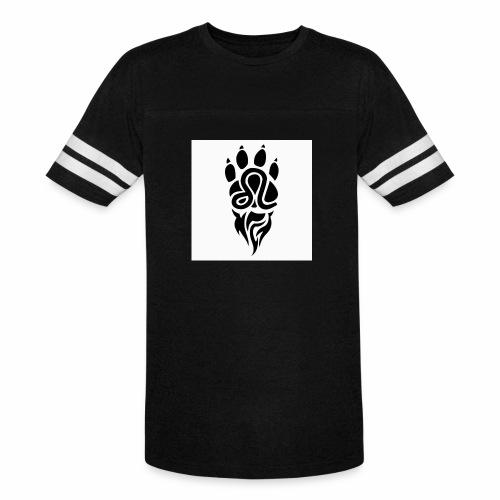 Black Leo Zodiac Sign - Vintage Sport T-Shirt