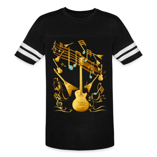 Gold Guitar Party - Vintage Sport T-Shirt