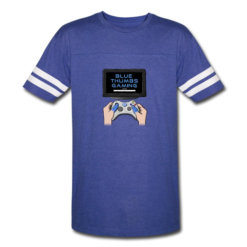 Blue Thumbs Gaming: Gamepad Logo - Vintage Sport T-Shirt
