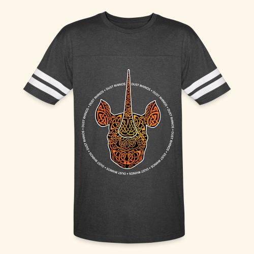 Dust Rhinos Orange Knotwork - Vintage Sport T-Shirt