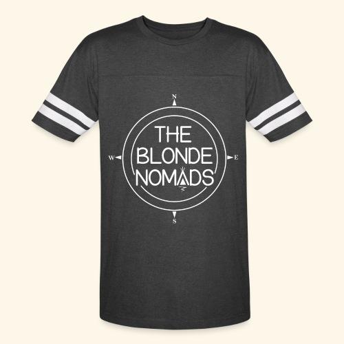 The Blonde Nomads logo WHITE - Vintage Sport T-Shirt