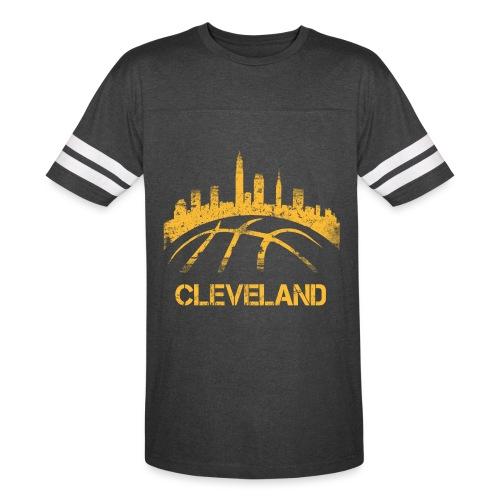 Cleveland Basketball Skyline - Vintage Sport T-Shirt