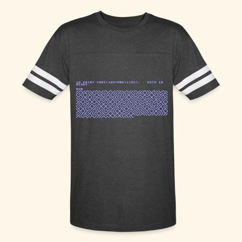 10 PRINT CHR$(205.5 RND(1)); : GOTO 10 - Vintage Sport T-Shirt