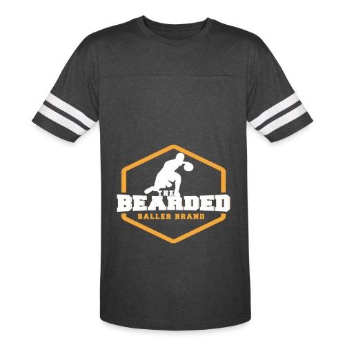 The Bearded Baller Brand White and Gold - Vintage Sport T-Shirt