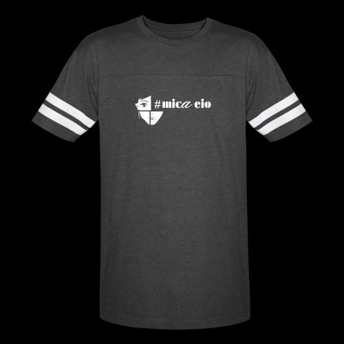 Mica Eio white logo - Vintage Sport T-Shirt