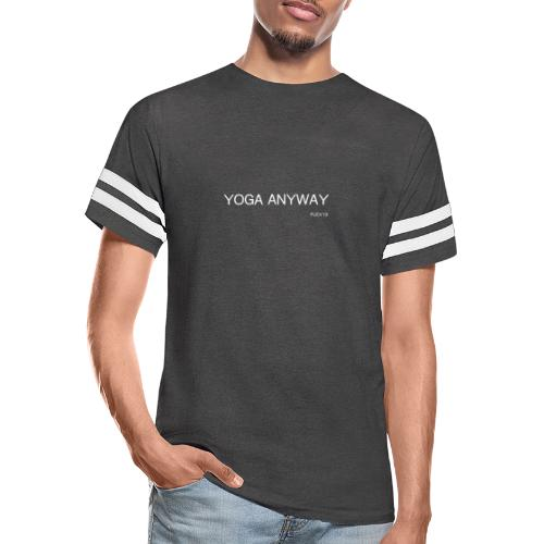 YOGA WHITE font - Vintage Sport T-Shirt