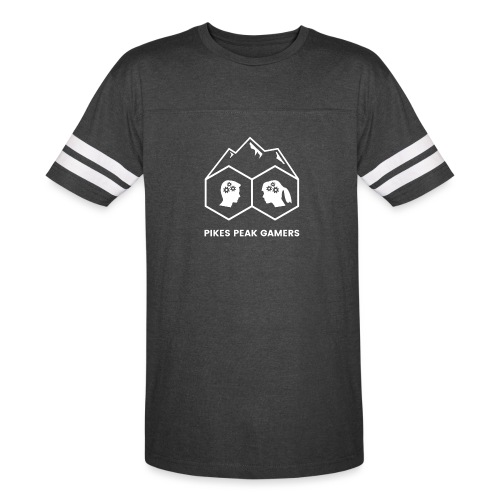 Pikes Peak Gamers Logo (Transparent White) - Vintage Sport T-Shirt