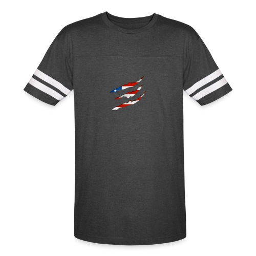3D American Flag Claw Marks T-shirt for Men - Vintage Sport T-Shirt