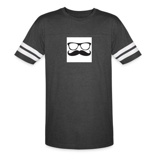 moustache glasses decal - Vintage Sport T-Shirt