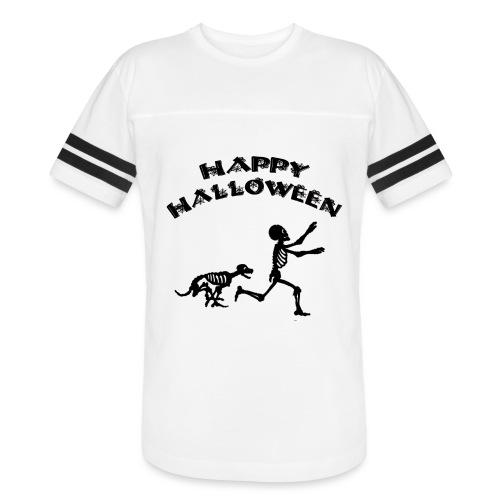 Halloween Boy and Dog - Vintage Sport T-Shirt