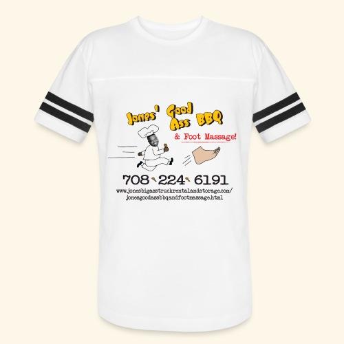 Jones Good Ass BBQ and Foot Massage logo - Vintage Sport T-Shirt