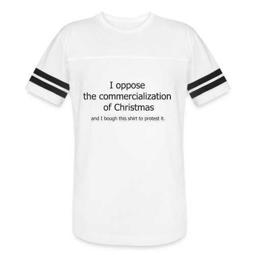 Christmas Commercialization Ladies T - Vintage Sport T-Shirt