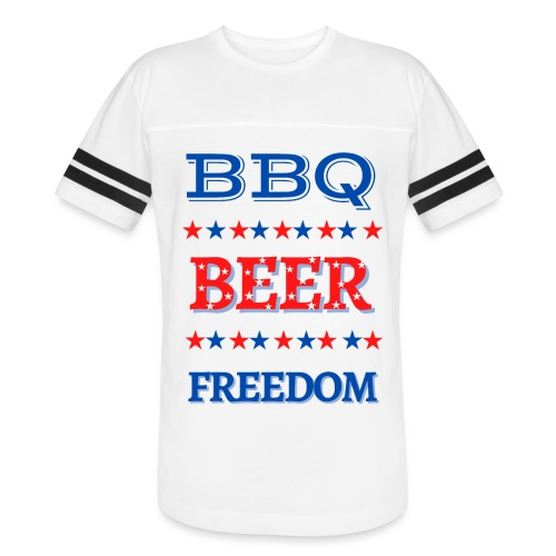 BBQ BEER FREEDOM - Vintage Sport T-Shirt
