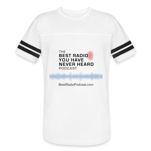 One sided black logo/URL blue wave - Vintage Sport T-Shirt