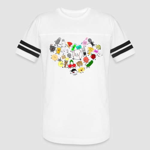 Inanimate Heart Color - Vintage Sport T-Shirt
