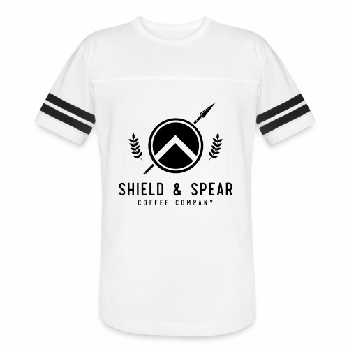 Shield and Spear Black Logo - Vintage Sport T-Shirt