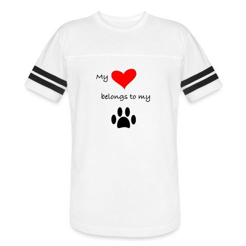 Dog Lovers shirt - My Heart Belongs to my Dog - Vintage Sport T-Shirt