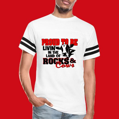 Livin' in the Land of Rocks & Cows - Vintage Sport T-Shirt