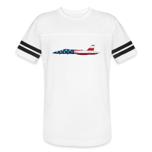 American Flag Military Jet - Vintage Sport T-Shirt