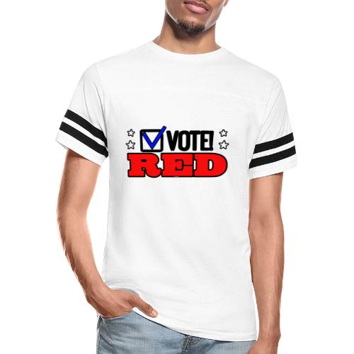 VOTE RED - Vintage Sport T-Shirt