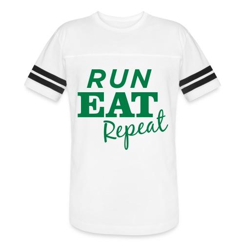Run Eat Repeat buttons medium - Vintage Sport T-Shirt