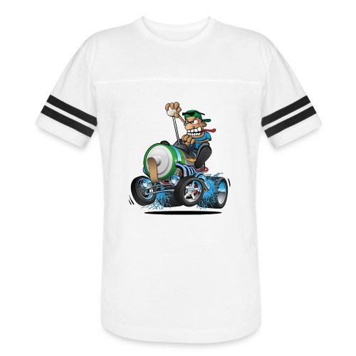 Hot Rod Electric Car Cartoon - Vintage Sport T-Shirt