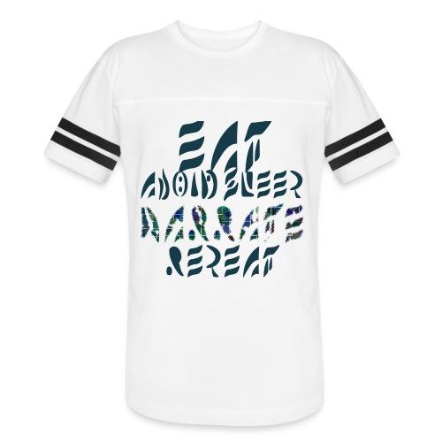 Eat Sleep Narrate Repeat - Vintage Sport T-Shirt