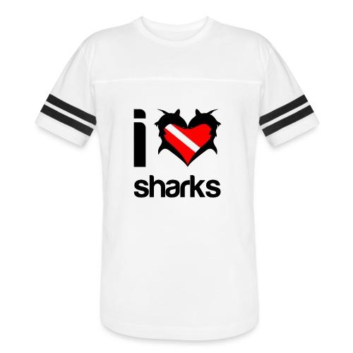 I Love Sharks - Vintage Sport T-Shirt