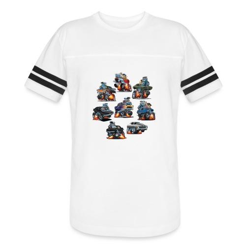 Car Crazy Classic Hot Rod Muscle Car Cartoons - Vintage Sport T-Shirt